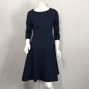 Lands end 3/4 sleeve flare dress xs /P